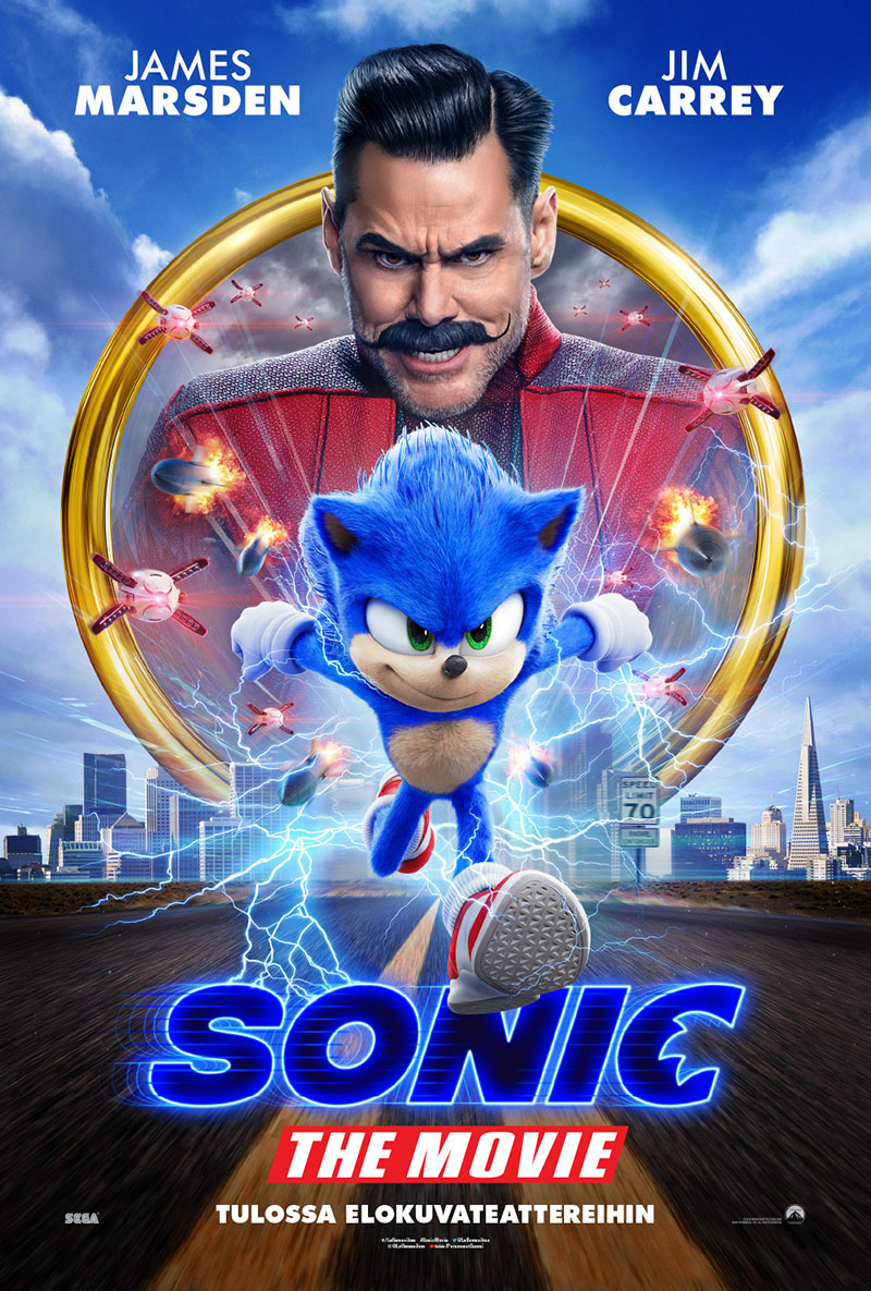 Sonic The Movie -elokuvan juliste